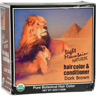 Light Mountain Natural Hair Color and Conditioner Dark Brown - 4 fl oz