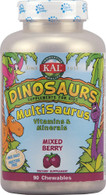 KAL Dinosaurs MultiSaurus® Mixed Berry -- 90 Chewables
