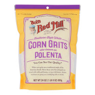 Bob's Red Mill - Grits White Corn - Case Of 4 - 24 Oz