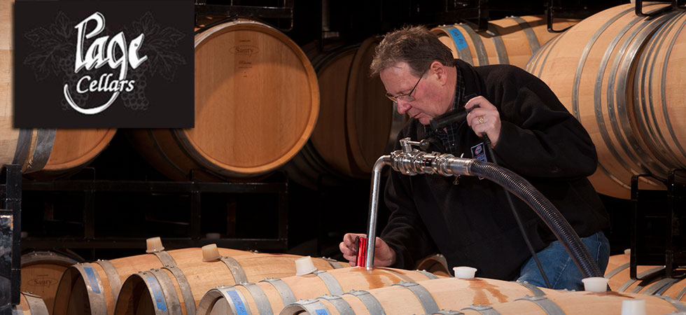 Jim Page working on wine