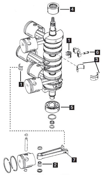 Mercury  Mariner - Powerheads - Six Cylinder