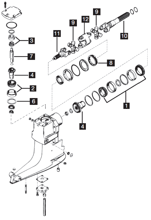 Mercruiser Sterndrive - Alpha I  1972-1991