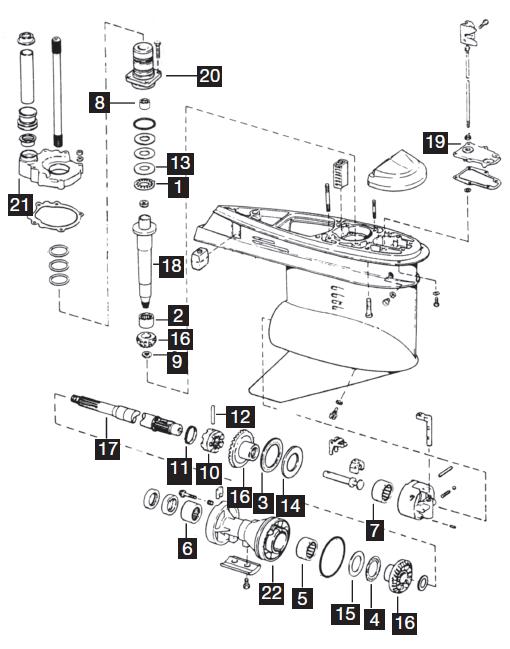 OMC Sterndrive - 1986-1993 Cobra - New Aftermarket Parts