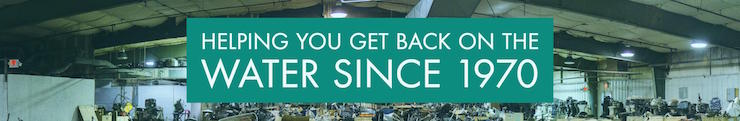 Warehouse Photo - Helping you get back on the water since 1970.
