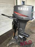 """1992 Yamaha 40 HP 2 Cylinder 2 Stroke Tiller 15"""" Outboard Motor"""