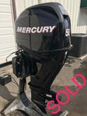 "2009 Mercury 50 HP 4 Cylinder 4 Stroke EFI 20"" Outboard Motor"