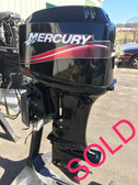 "2009 Mercury 50 HP 3 Cylinder 2 Stroke 20"" Outboard Motor"