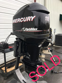 "2011 Mercury Optimax 115 HP 3 Cylinder 2 Stroke Direct Fuel Injection 20"" Outboard Motor"