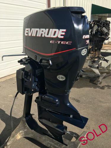 2008 Evinrude E Tec 75 Hp 3 Cylinder 2 Stroke Direct