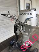 "2007 Honda 30 HP 3-Cyl 4-Stroke 20"" Big Tiller Outboard Motor"