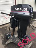 """1990 Evinrude Tiller 40 HP 2 Cylinder 2-Stroke 20"""" Outboard Motor"""