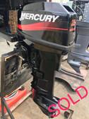 New 2001 Mercury 25 HP Tiller 2 Cylinder 2-Stroke Outboard Motor