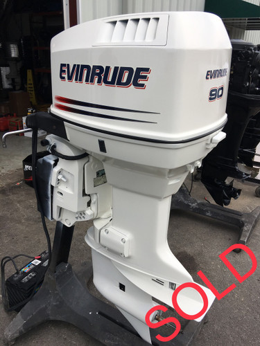1998 evinrude 90 hp v4 2 stroke 20 outboard motor for Used 90 hp outboard motors