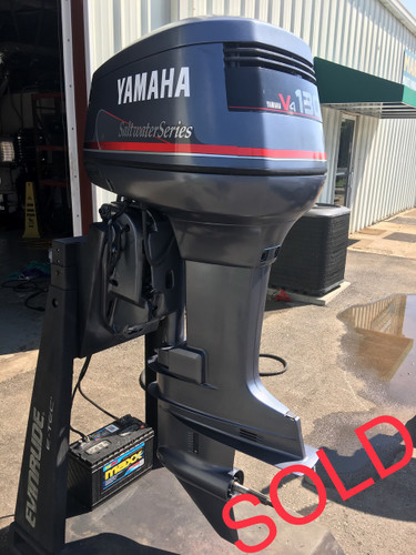 1998 yamaha saltwater series 130 hp v4 2 stroke 25 rh for Yamaha 90 outboard weight
