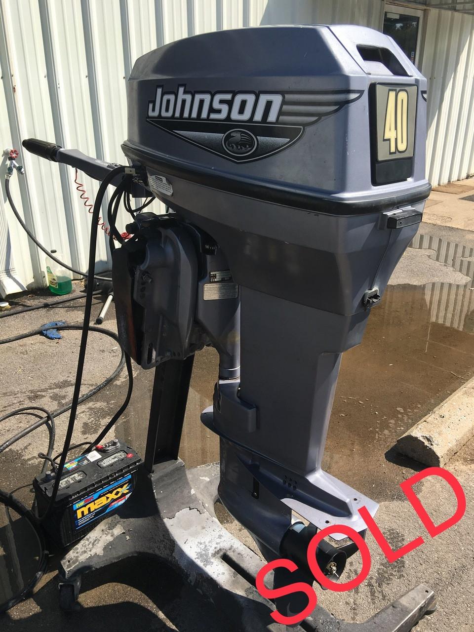 """2000 Johnson 40 HP 2 Cylinder 2-Stroke 20"""" Tiller Outboard ..."""