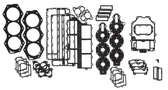 New Aftermarket Johnson/Evinrude 6 CYL 150-200 HP Crossflow Flatback Powerhead Gasket Set [1976-1991] [Replaces OEM# 391988]