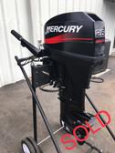 """2004 Mercury 25 HP 2 Cylinder 2-Stroke 15"""" Tiller Outboard Motor"""
