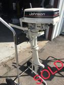 "1990 Johnson Colt 2 HP 2-Stroke 15"" Tiller Outboard Motor"