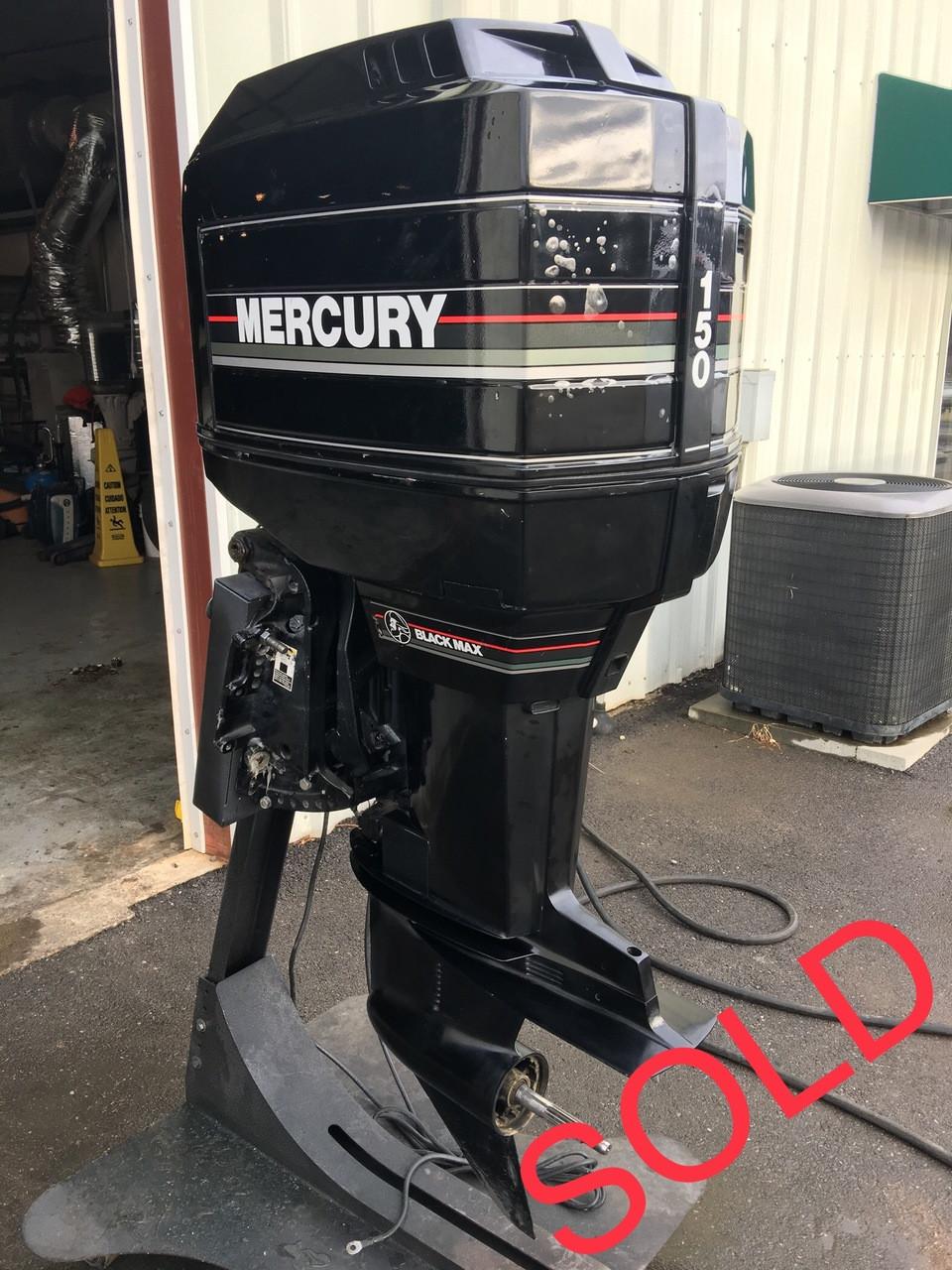 """1991 Mercury 150 HP V6 2 Stroke 20"""" Outboard Motor"""