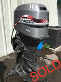 "1998 Mariner 40 HP 3 Cylinder Carbureted 2 Stroke 20"" Outboard Motor"