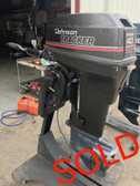 "1989 Johnson 40 HP Tracker 2 Cyl 2 Stroke 20"" Tiller Outboard Motor"