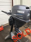 "2005 Yamaha 25 HP 2 Cyl 4 Stroke 15"" Tiller Outboard Motor"