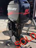 "2001 Mercury 90 HP 3 Cylinder Carbureted 2 Stroke 20"" Outboard Motor"