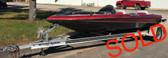 2001 BasStream 1850 Hydra Bass 18' Fiberglass Boat with Trailer