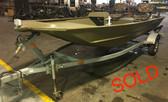2017 G3 1652 16' Aluminum Jon Boat w/2017 Yamaha 25 HP 2 Cylinder 4 Stroke Outboard Motor and Trailer