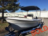 1986 Aquasports 200 Osprey 20' Runabout Fishing Boat w/1986 Evinrude 150 HP Outboard Motor and Trailer