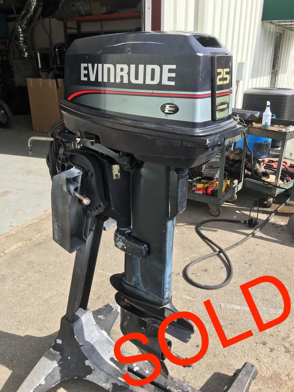 Evinrude 25 Hp >> 1997 Evinrude 25 Hp 2 Cylinder Carbureted 2 Stroke 20 Outboard Motor