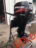 "2001 Mercury 50 HP 4 Cylinder Carbureted 4 Stroke 20"" Tiller Outboard Motor"