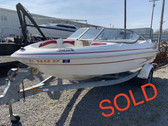 2001 Glastron SX175 17' Fiberglass Runabout Boat with Trailer (motor not included)