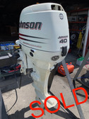 "2003 Johnson/Suzuki 40 HP 3 Cylinder EFI 4 Stroke 20"" (L) Outboard Motor"