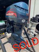 "2001 Evinrude 75 HP V4 Direct Fuel Injected 2 Stroke 20"" (L) Outboard Motor"