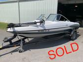 1999 Triton SF-18 18' Fiberglass Fish and Ski Boat with Trailer