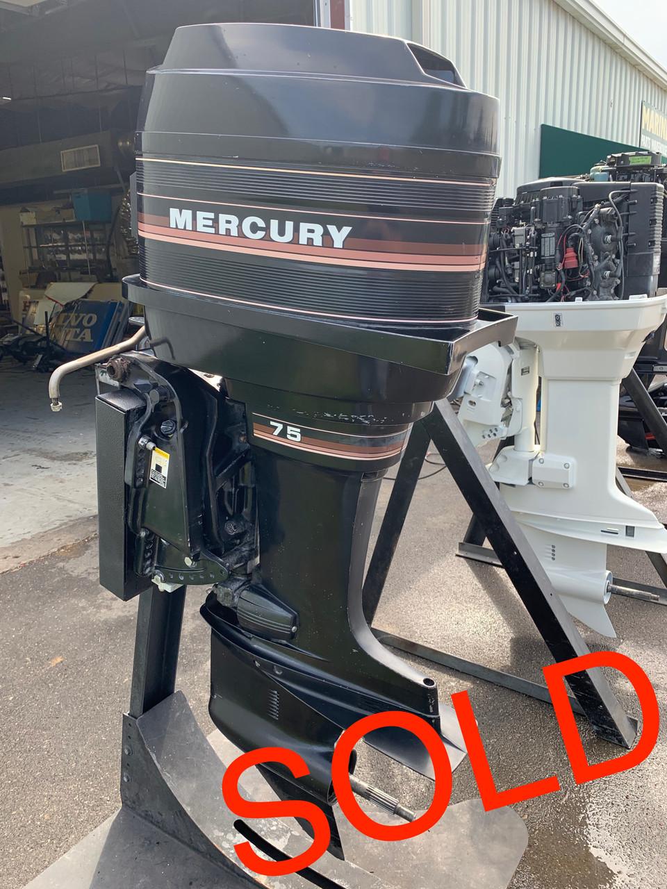 1985 Mercury 75 HP 4 Cylinder Carbureted 2 Stroke 20
