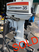 "1977 Johnson SeaHorse 35 HP 2 Cylinder Carbureted 2 Stroke 20"" (L) Outboard Motor"