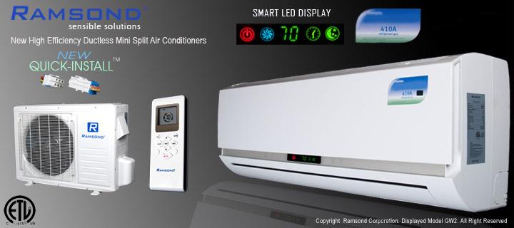 Ramsond® Model 27GW2 Ductless Mini Split Air Conditioner