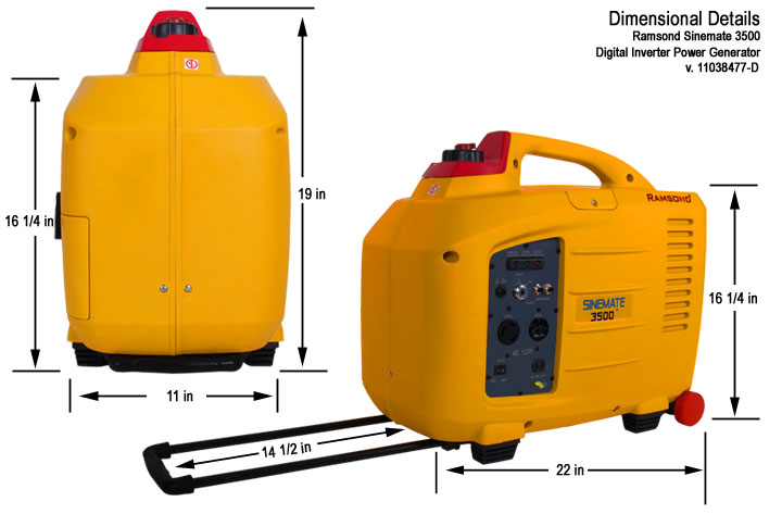 Sinemate 3500 Digital inverter Gasoline Generator