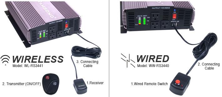 SunRay 3000 Pure Sine Wave Inverter Remote Starter