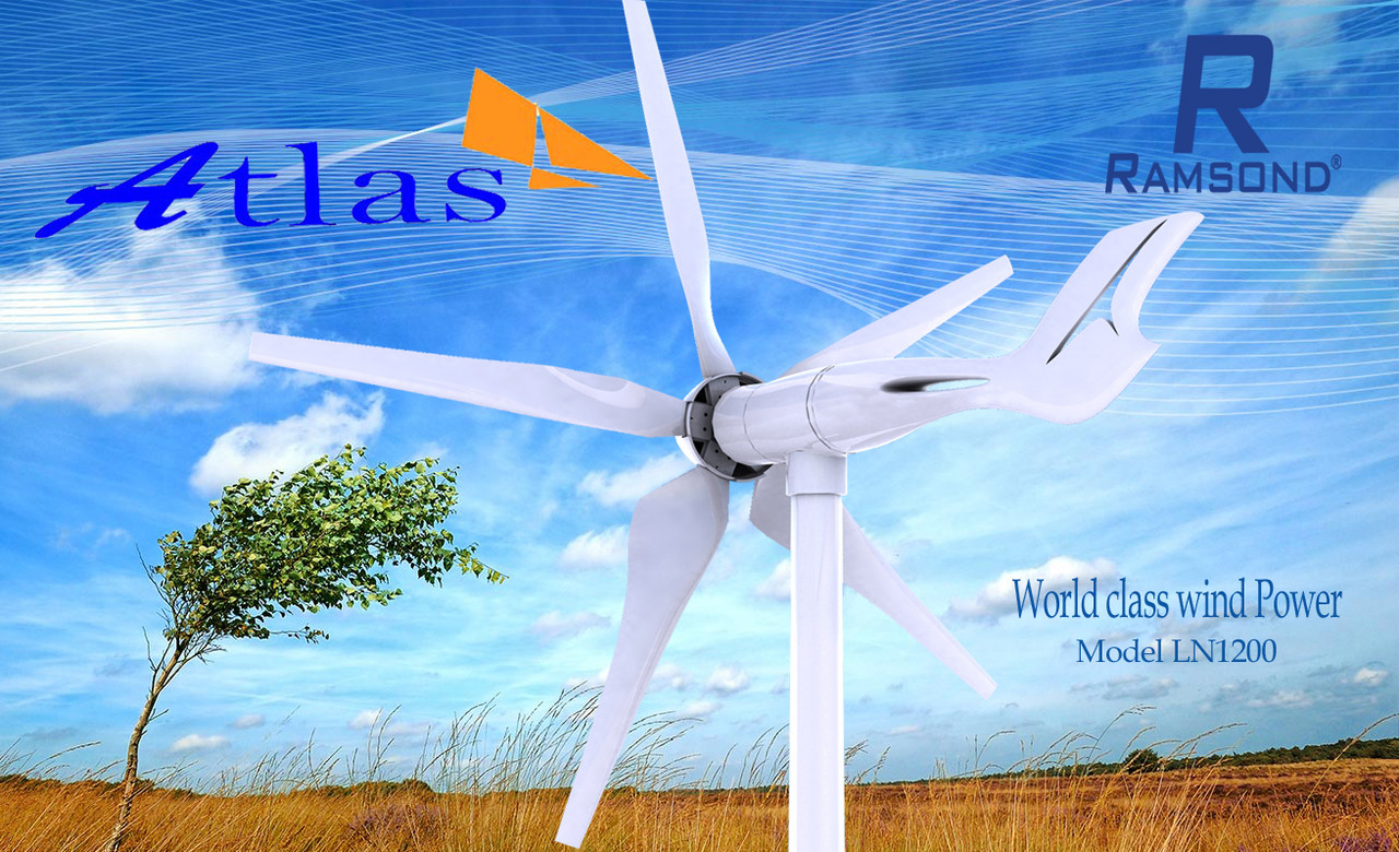 Professional Wind Turbines Kit 1600W 6 Blade Wind Generator 48V-Blue 2.0 m//s Low Starting Wind Speed Windmill for DIY Home Outdoor