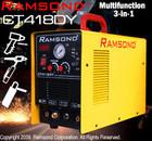 RAMSOND CT418DY 3-IN-1 40 AMP PLASMA CUTTER + 180 AMP TIG + 180 AMP ARC MMA WELDER