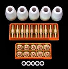 Plasma Torch Complete Consumables Kit (10 Electrodies, 10 Tips, 5 Shield Cups, 5 Swirl Rings)