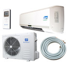 Ramsond Model 55GW3 18000 BTU SEER 17.6 Mini Split Ductless Air Conditioner with Heat Pump & Back Up Electric Heat