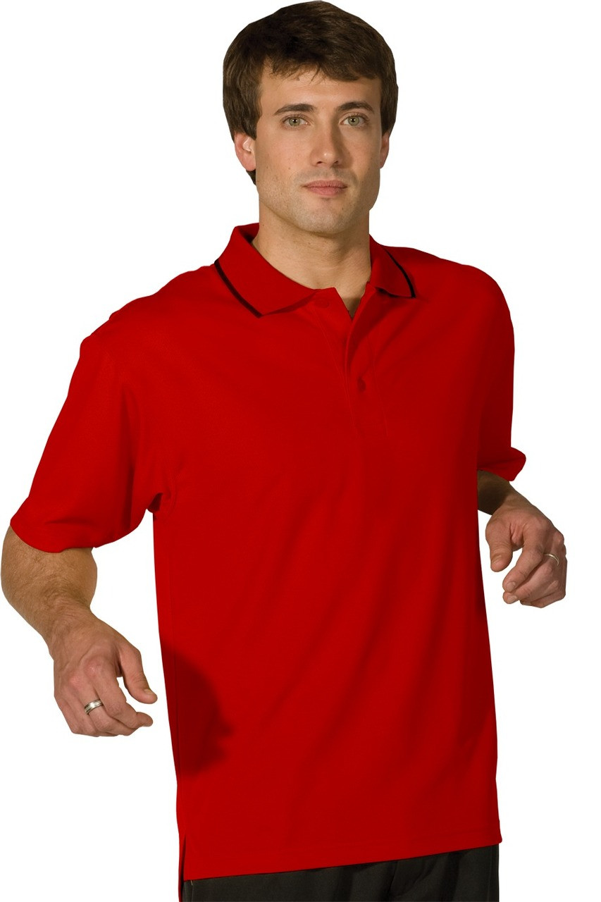 Men/'s Mesh Polo-Tipped Collar 1575