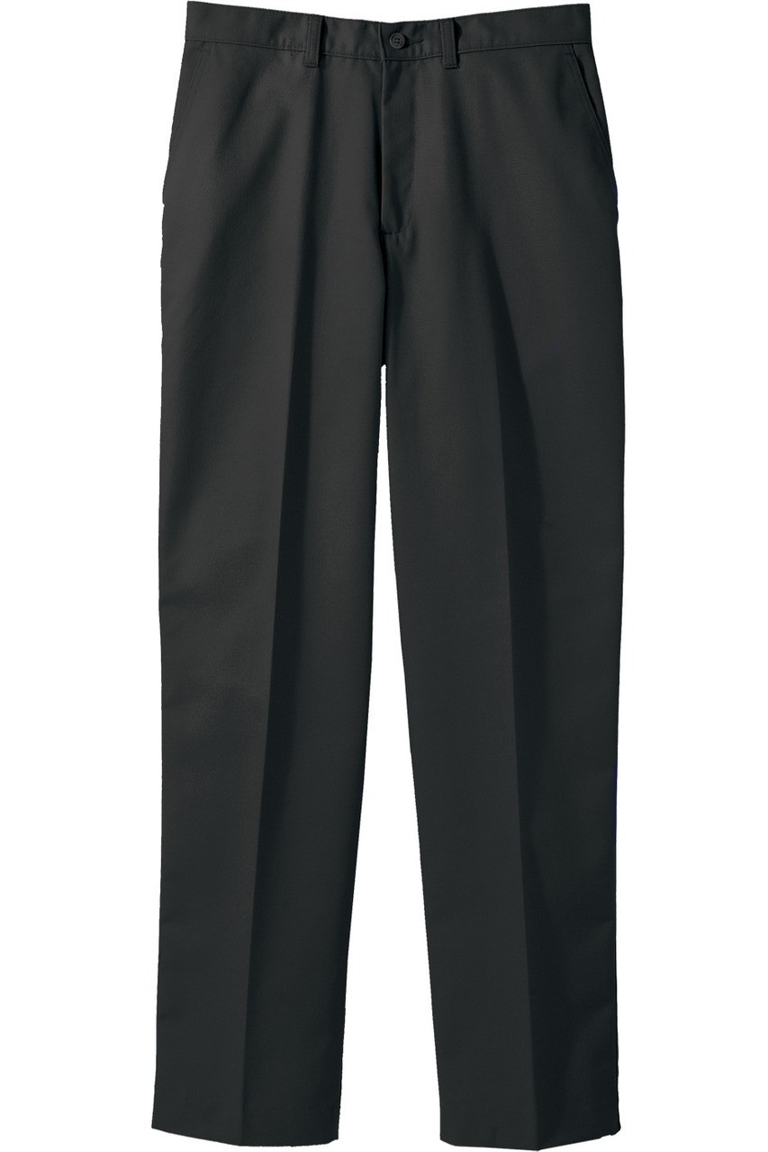 6ff3258f38425 Men s poly cotton flat front work pants in black