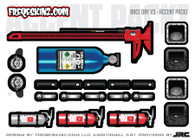 Skinz Wraps Decals and Wraith Skins for Axial Losi Futaba