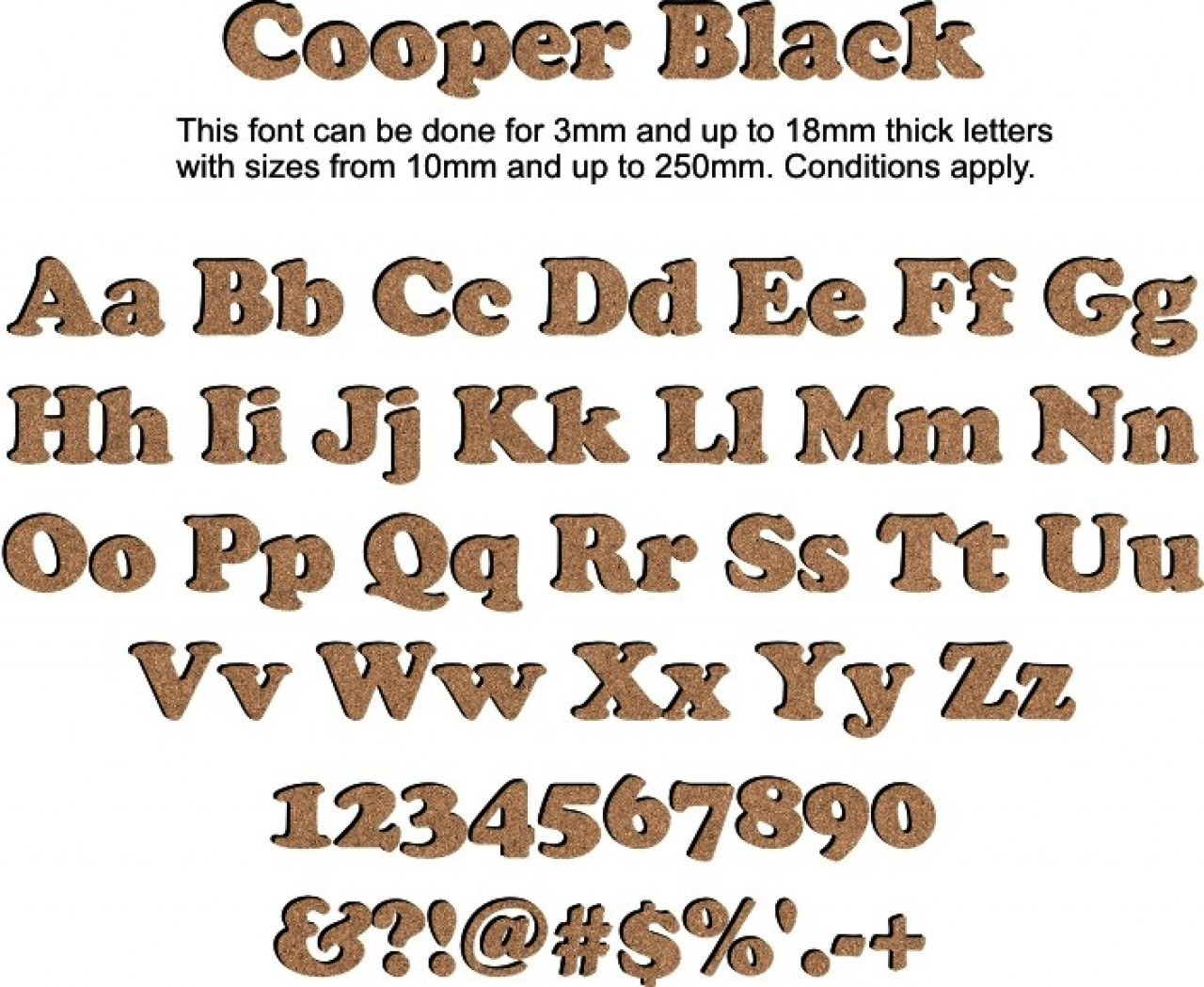 Individual  Wooden Capital Letters  A Z  6mm Thick