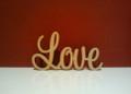 Freestanding wooden word Love 10cm tall 18cm long